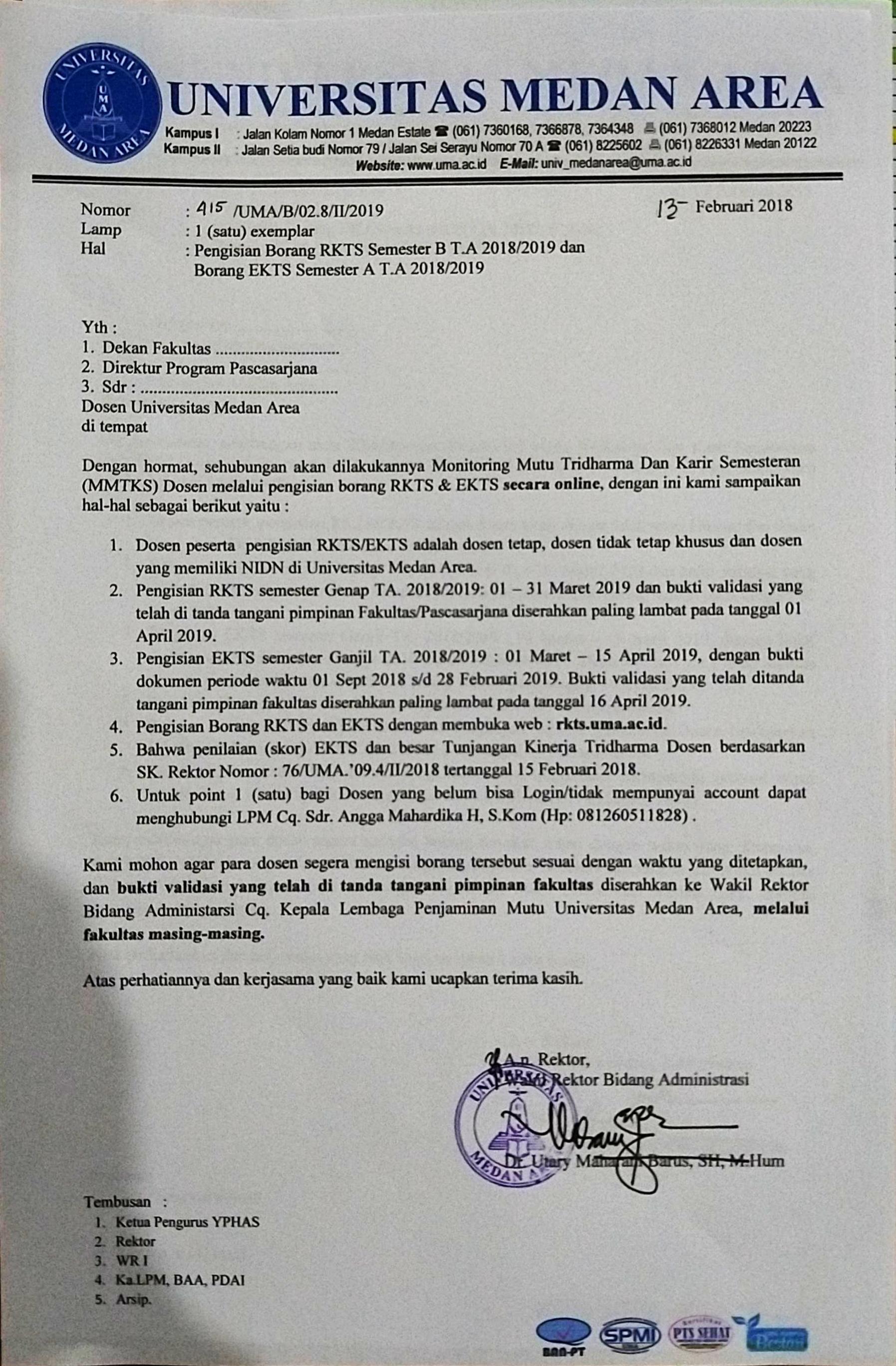 Pengisian Borang Rkts Semester B T A 2018 2019 Dan Borang Ekts