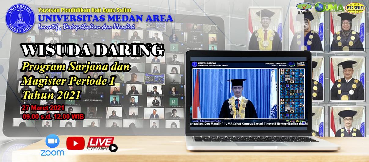 Wisuda Daring Program Sarjana Dan Magister Periode 1 Tahun 2021